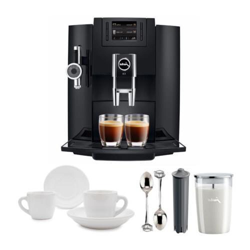 Jura E8 Espresso Coffee Machine with Espresso Cup and Saucer