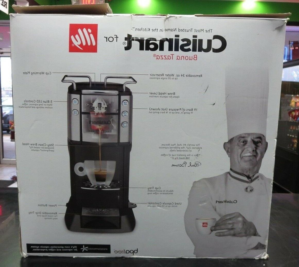 Cuisinart Buona Single Serve Espresso Coffee Machine Black
