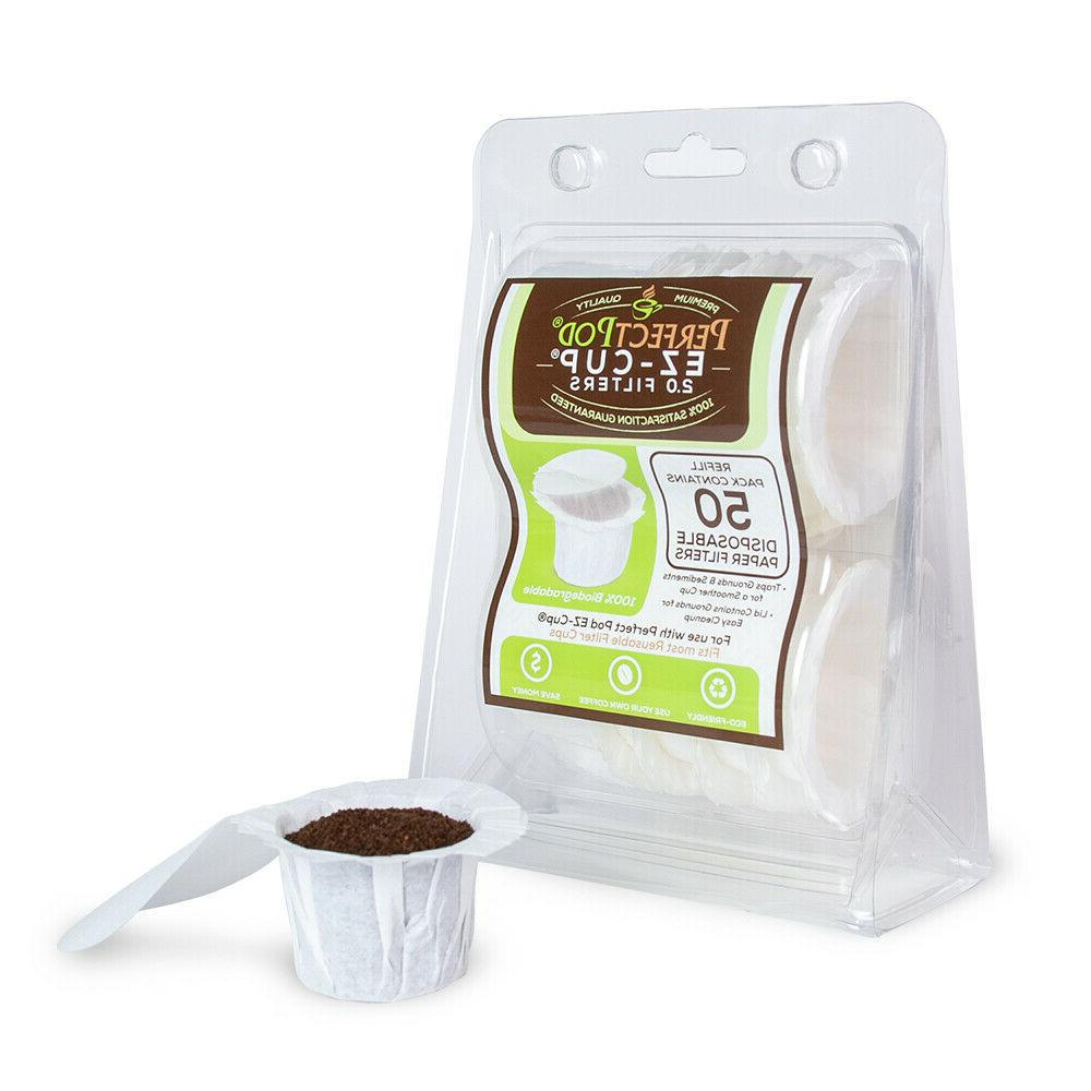 filters disposable refillable fit single cup coffee