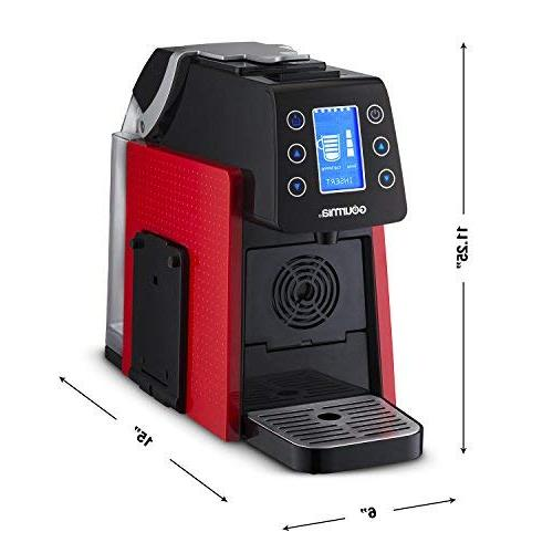 Multi Coffee & Espresso Machine - Single Serve - Compatible with K-Cup & - Digital Display Red