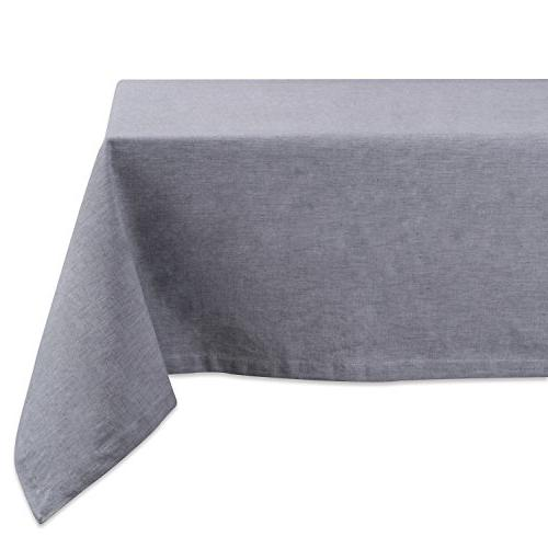 gray solid chambray tablecloth