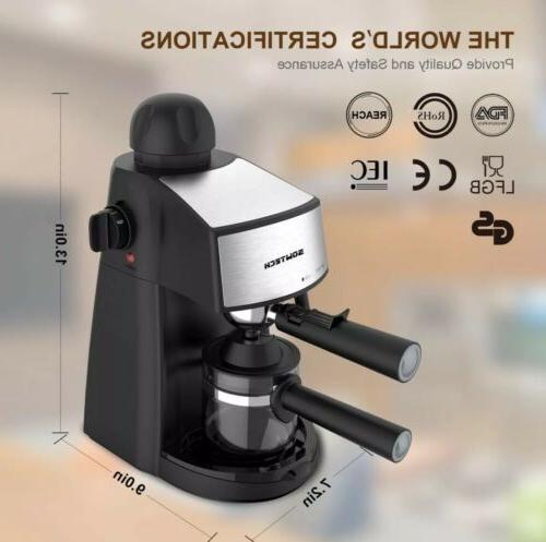 HOME W/ Milk Cup Cappuccino Latte Maker