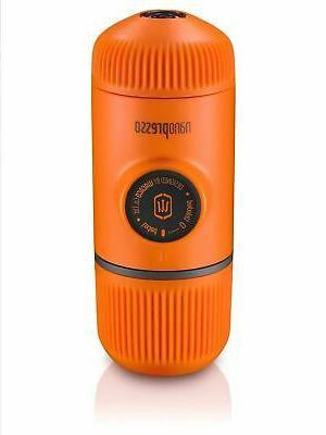 nanopresso orange patrol portable espresso machine coffee