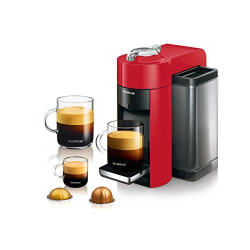 Nespresso Evoluo Coffee and Espresso Machine by De'Longhi, Red