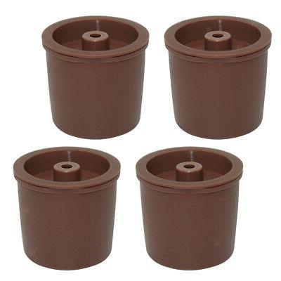 Pack 4 K-Cup Reusable Coffee Filter Pod, For Brown