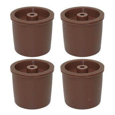 Pack 4 K-Cup Reusable Coffee Pod, Brown