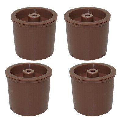 Pack 4 Reusable Coffee Filter Pod, For Brown