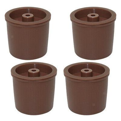 Pack 4 K-Cup Reusable Coffee Pod, Fit For Brown