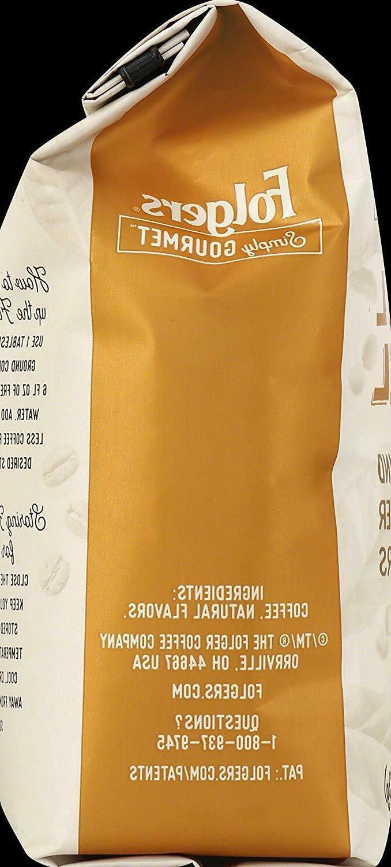 Folgers Gourmet Flavored Ground Caramel, Oz