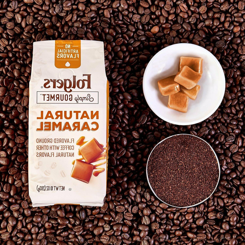Folgers Simply Gourmet Ground Caramel, Oz new