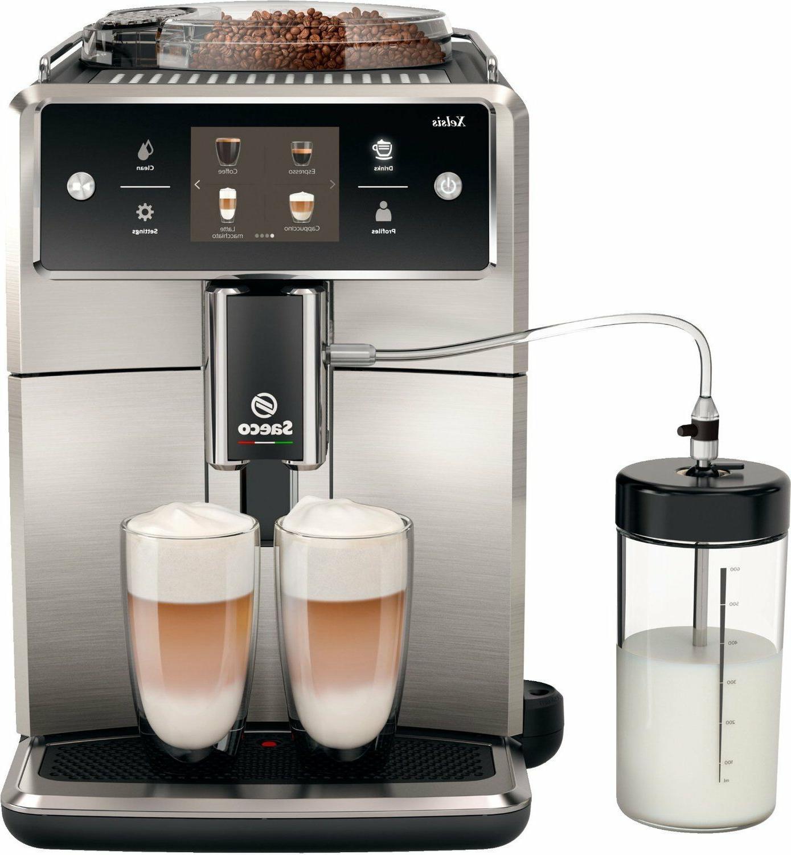 Saeco SM coffee espresso super automatic machine steel
