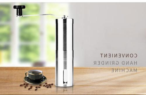 Stainless Hand Coffee Grinder Adjustable Mill Burr
