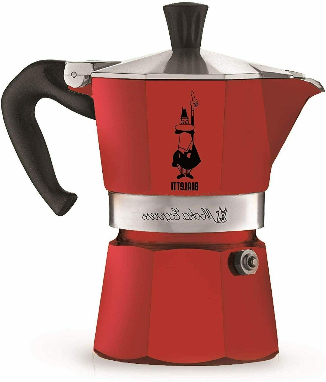 Stovetop Espresso Machine Italian Coffee Maker 3 Cup Fast Br