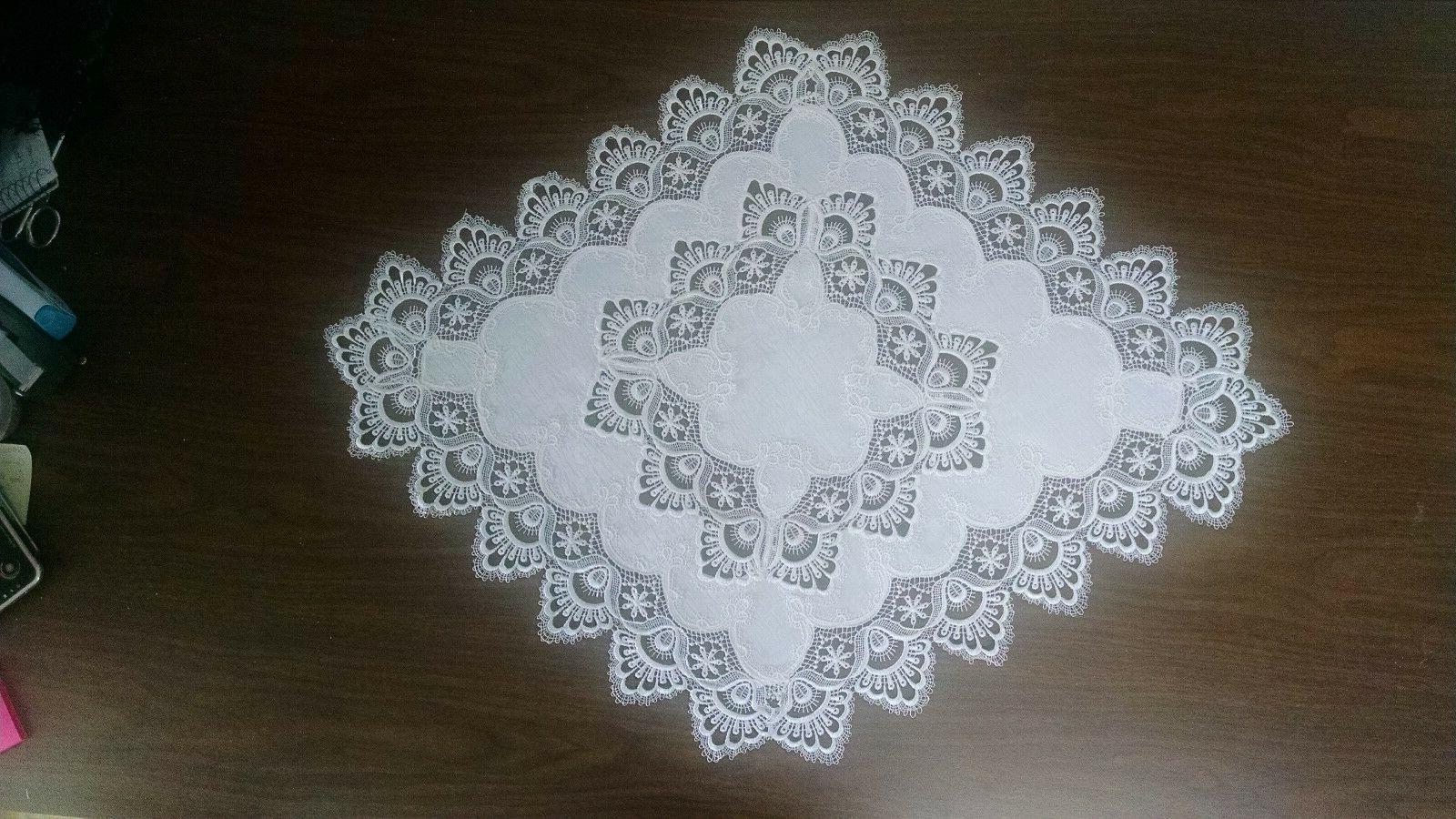 Doily Boutique White European Fabric