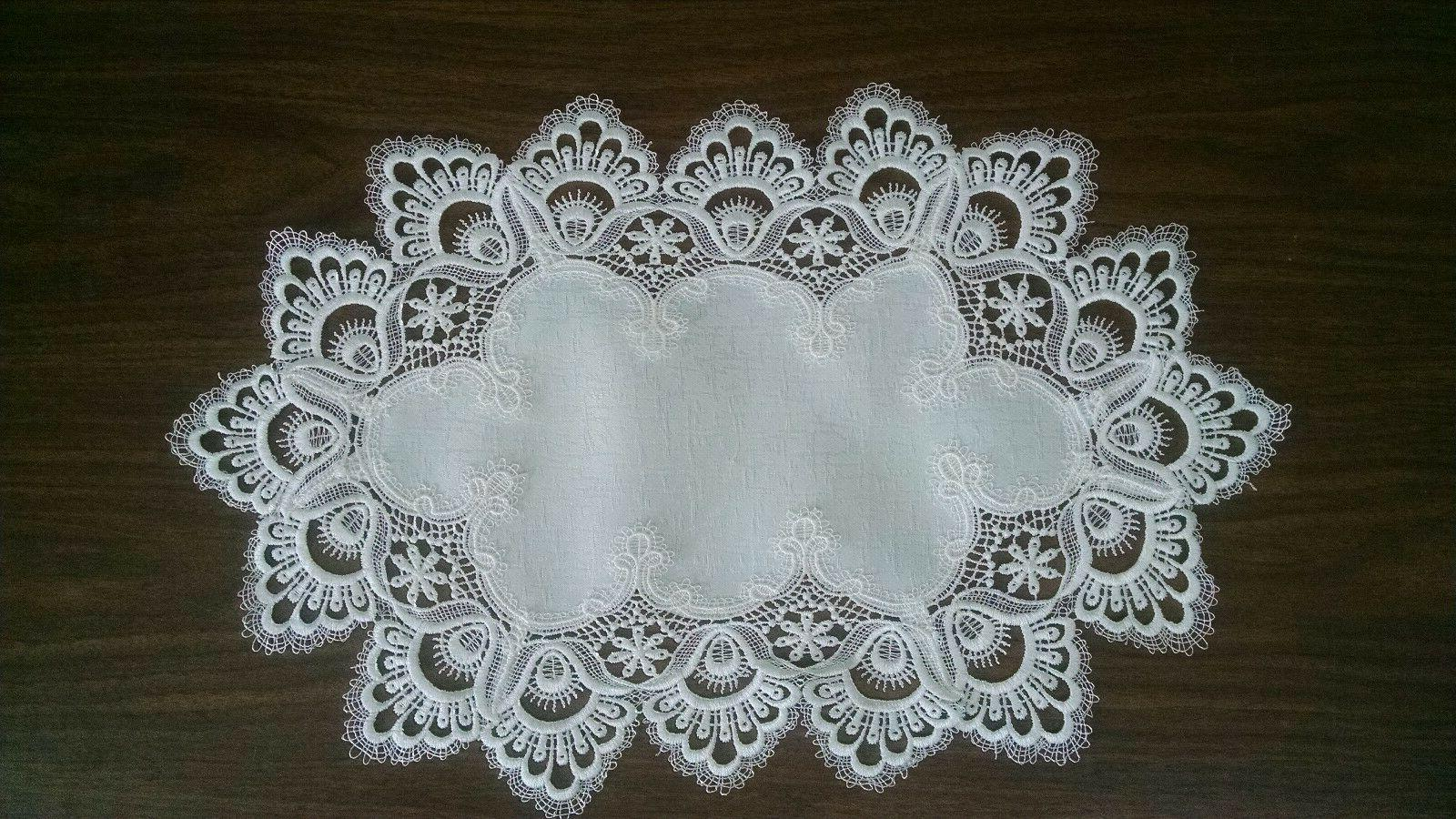 Doily Table or with White European Fabric