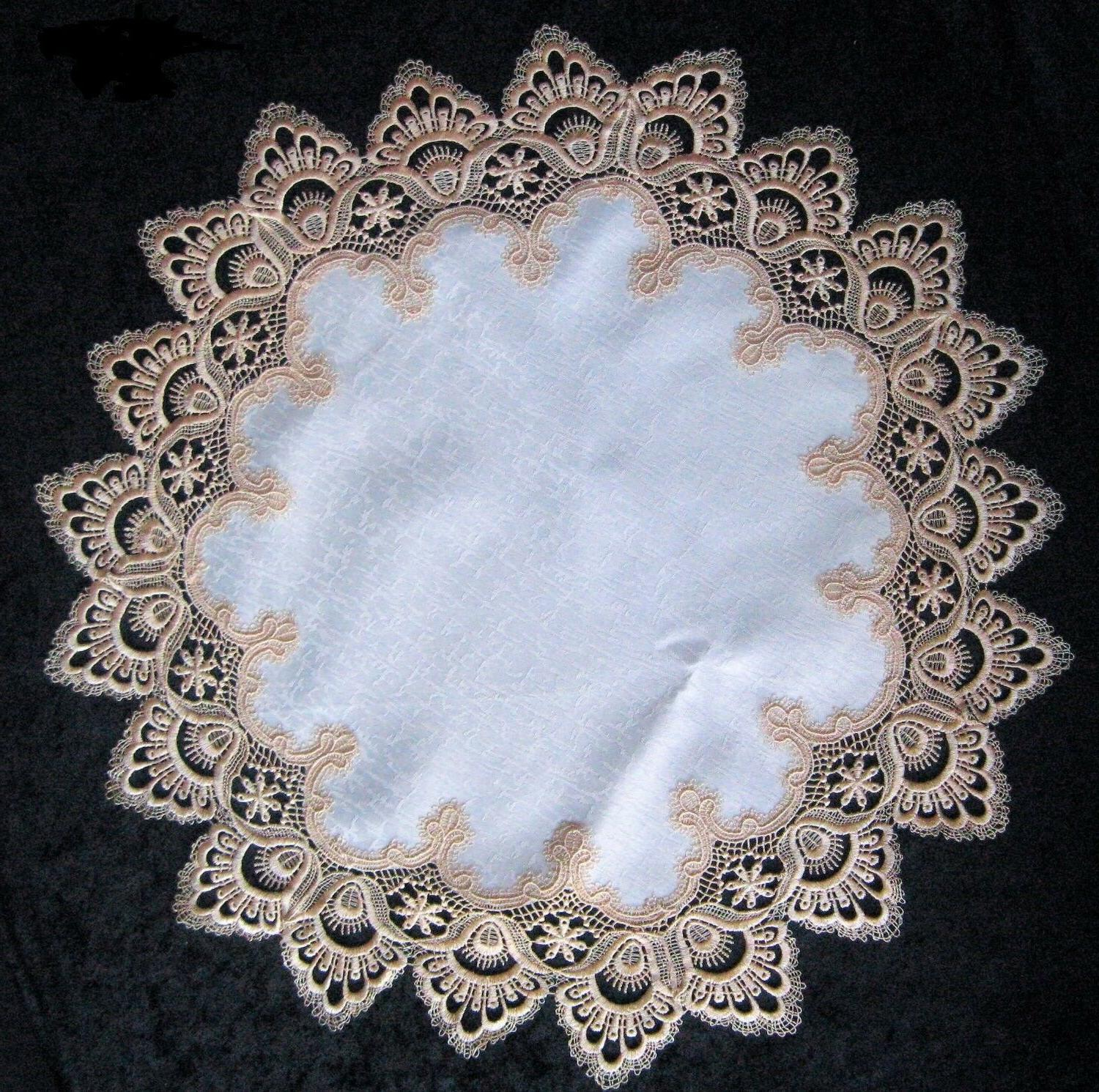 Doily Runner or with Lace Antique Fabric