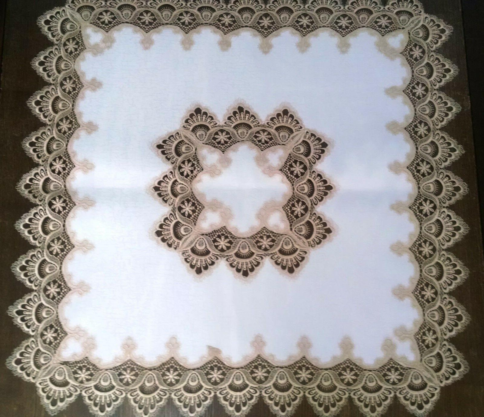 Doily Boutique Table or Lace and Fabric