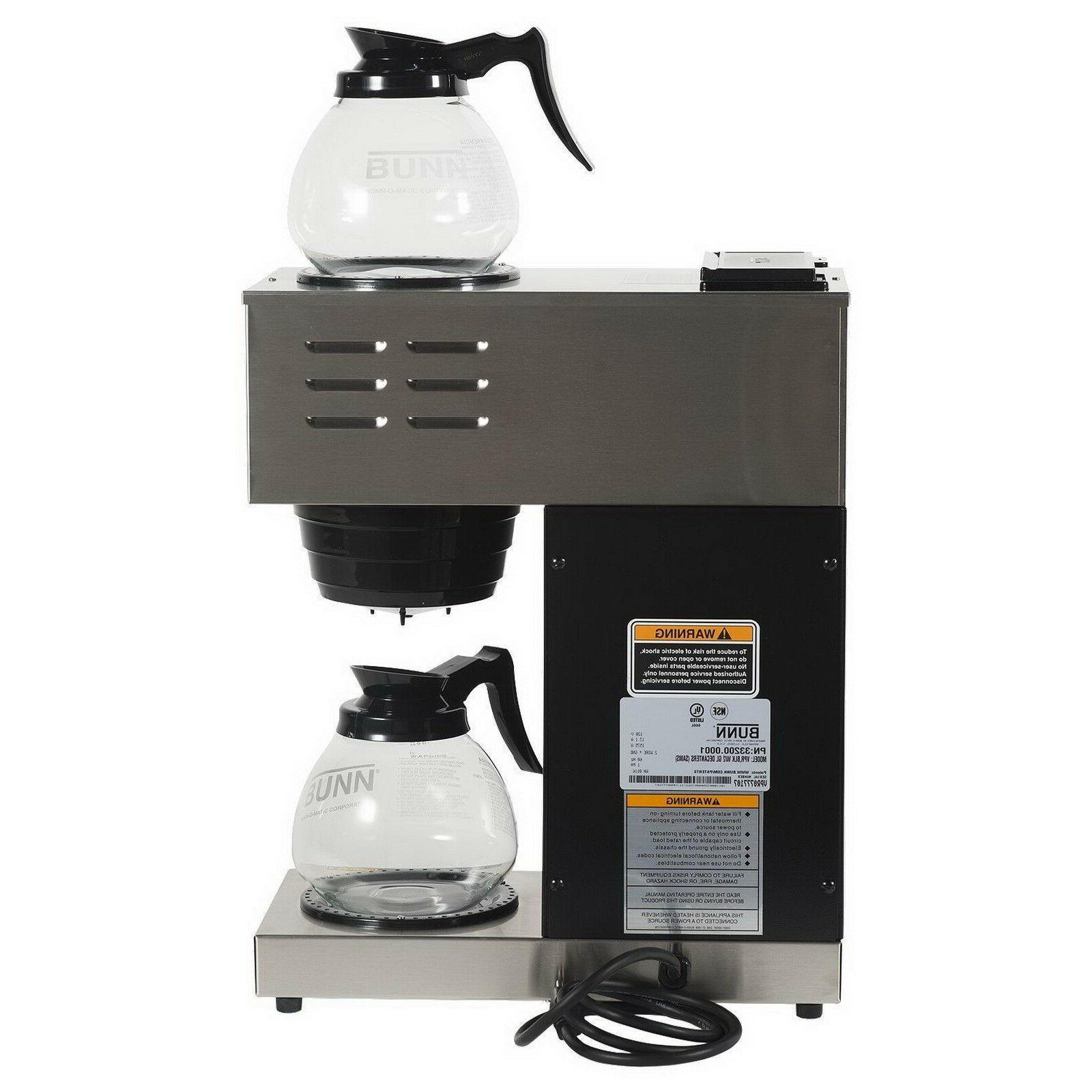 Bunn VPR Commercial Coffee Pour Over Brewer Warmer Pourover