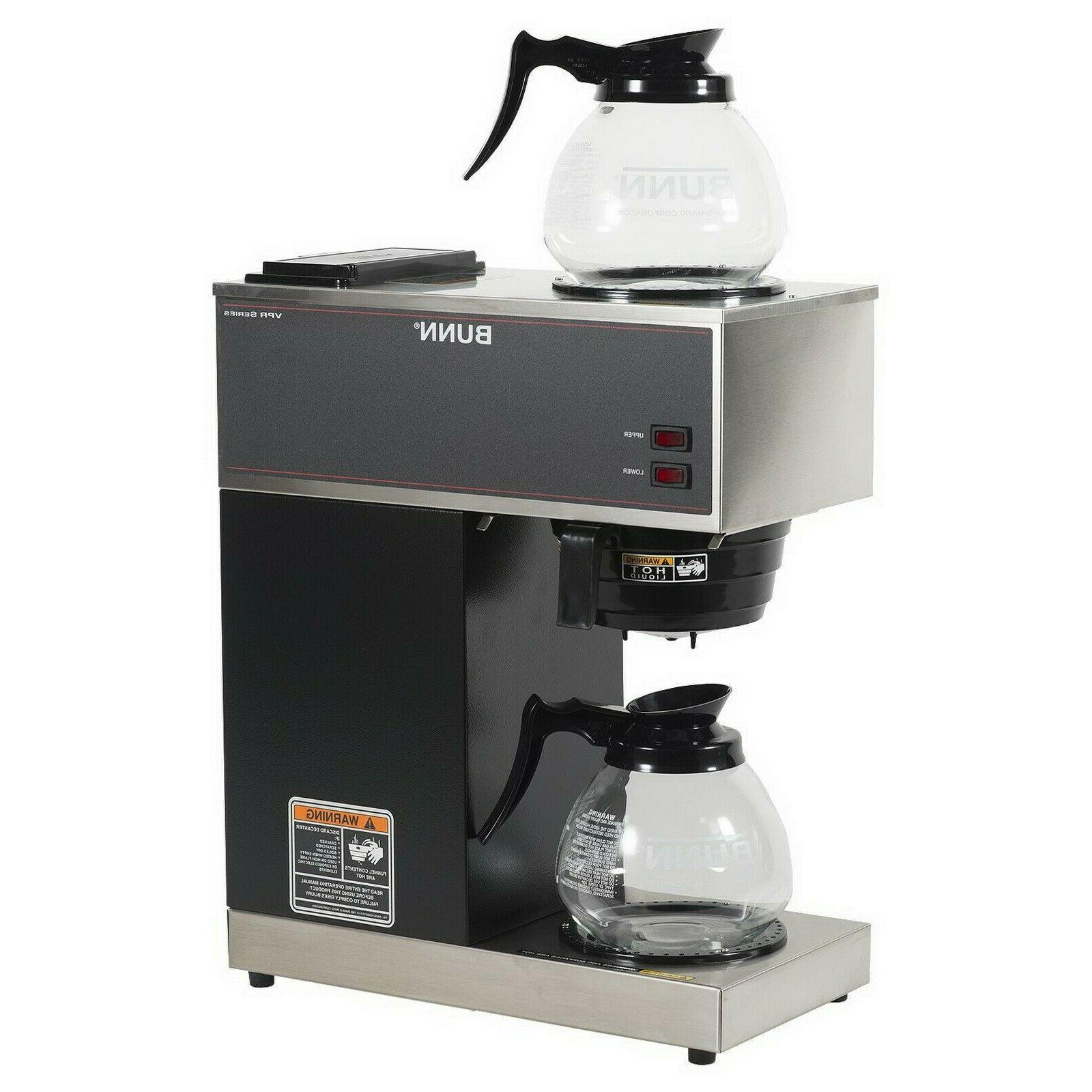 vpr 12 cup commercial coffee maker pour