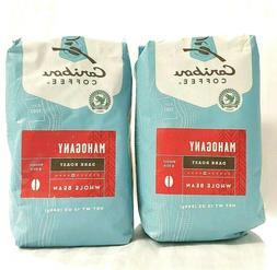 Caribou Coffee, Mahogany Dark Roast, Whole Bean, 12 oz - BB