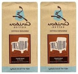 Caribou Coffee Mahogany Dark Roast Ground Coffee 2 Bag Pack