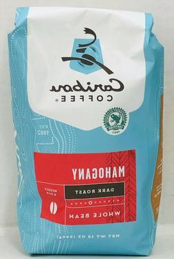 Caribou Coffee Mahogany Dark Roast Whole Bean Coffee 12 oz
