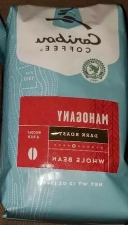 Caribou Coffee, Mohogany, Whole Bean, Dark Roast, 12-ounces