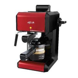 Mr. Coffee Caf 20 Ounce Steam Automatic Red Espresso & Cappu