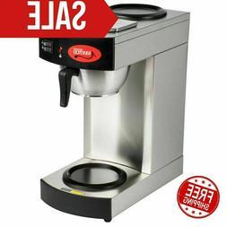 New Avantco Commercial Coffee Maker Machine 2 Pot Warmer Pou