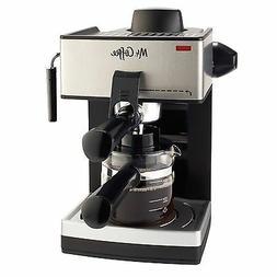 NEW Mr. Coffee ECM160 4-Cup Steam Espresso Machine Black Sil