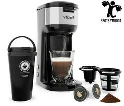 New Single Serve Coffee Maker For K-Cup Pods And Ground Coff