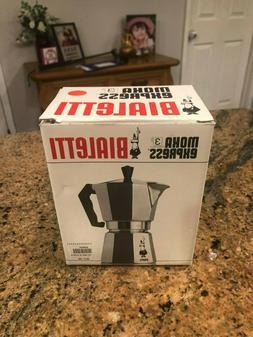 NEW The Original Bialetti Moka Express - 3 Cup Stovetop Coff