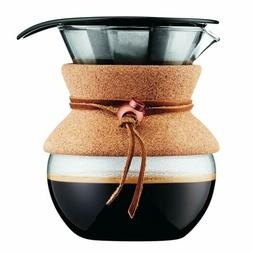Bodum Pour Over Coffee Maker, 17 Ounce, .5 Liter, Cork Band