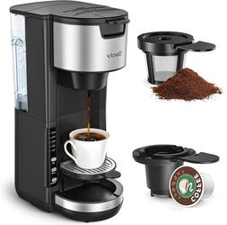 Sboly Single Serve Coffee Maker, 2-Way Coffee Machine For K-