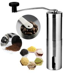 stainless steel hand manual coffee grinder adjustable