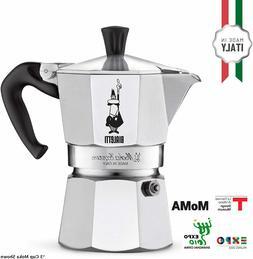 Stovetop Espresso Machine Italian Coffee Crema Maker Two 3 C