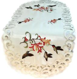 Doily Boutique Table Runner, Doily, Mantel Scarf with Hummin