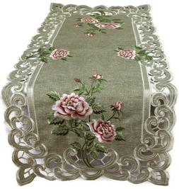 Doily Boutique Table Runner, Doily, Mantel Scarf with Pink R