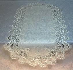 Doily Boutique Table Runner or Doily with Antique White Euro