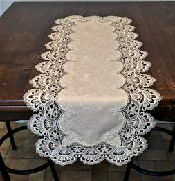 Doily Boutique Table Runner or Doily with Ivory European Lac