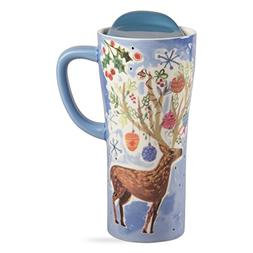 tag - Reindeer Travel Mug With Handle, Tote Your Drinks In S