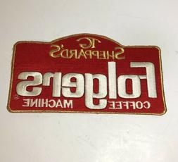 TG Sheppards Folgers Coffee Machine Patch 9 3/4 Inch By 5 5/
