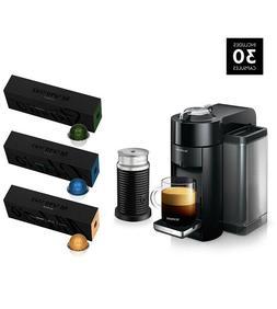 Nespresso Vertuo Coffee & Espresso Machine Bundle with Aeroc