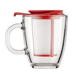 Bodum Yo-Yo Set Mug and Tea Strainer, 12-Ounce, Red